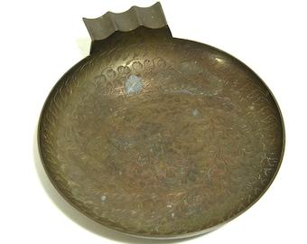 Big Brass Boho Style Ashtray