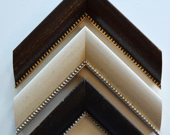 14 x 18 -  20 x 24  Beaded picture frames in Ivory, Brown and Black.