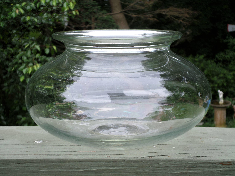 Antique large glass fish bowl aquarium terrarium turtle bowl for Fish bowl aquarium