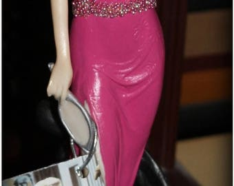 Summer SALE How to Marry A Millionaire Inspired Hand painted OOAK Figurine
