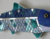 """Reserved for Nancy S.  """"Nancy's Fish""""  Glass Mosaic"""