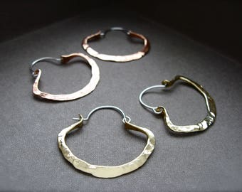 Mini Pound Clam Hoop in Copper, Bronze or Sterling.