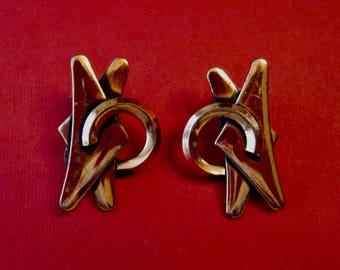 Mid Century Modern Renoir Copper Earrings