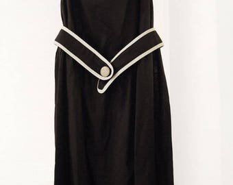 Beautiful Summer Black Linen Bubble Dress