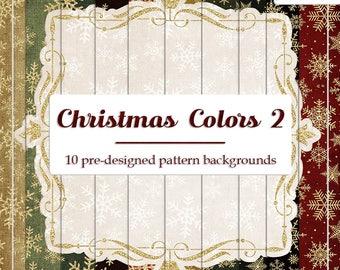 DECEMBER SALE - CU4CU Digital Papers | Christmas Colors 2 | Pre-Designed Snowflake Papers | Digital Designer Tool