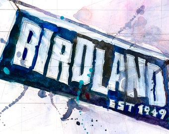 Birdland, Jazz - New York City - New York City Original Print
