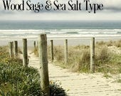 Woodsage & Sea Salt TYPE scented products / Shea Butter Soap, Lotion, Sugar Scrub or Body Mist