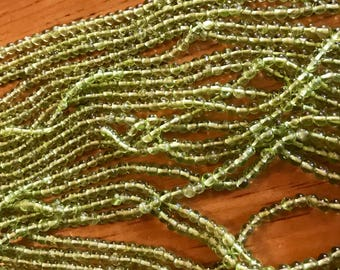 4mm natural Peridot beads