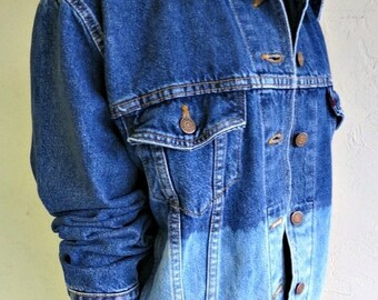 "40% OFF CLEARANCE SALE The ""Dipped"" Dark Wash Vintage Levi's Jean Jacket"