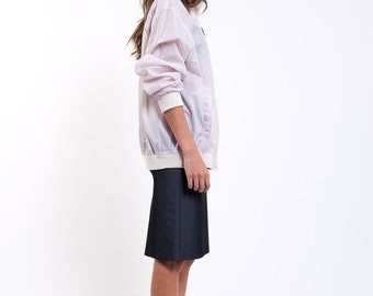 40% OFF The White Swishy Run With Me Jacket