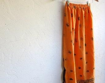 40% OFF Orange Hawaiian Print Skirt