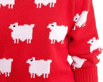 40% OFF The Vintage Red Lamb Sweater