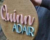 """Wooden Name Sign, 14"""" Round Custom Nursery Decor,  Round -  Painted, Wall Decor, Baby Shower, Gift, Nursery Art, Bedroom Sign"""