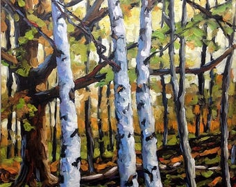 """On Sale Peace on Earth - Original Oil Painting - End of Summer Canadian Landsape - 20X24X1.5"""" created by Prankearts"""