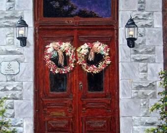On Sale St Eustache Doors original oil painting created by Prankearts