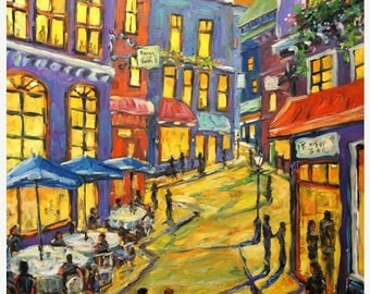 On Sale Swing Town Large original Urban New Orleans Scene created by Prankearts