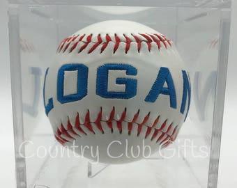 Baseball Coach | Personalized baseball | Baseball Mom | Little league | embroidered baseball | Commemorative Baseball | Baseball decor