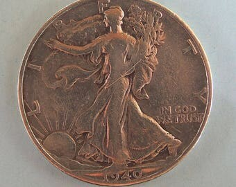 Vintage 1940s Walking Liberty, Silver Walking Liberty, Silver Coins, Rare Coins, USA Coins, FREE Shipping