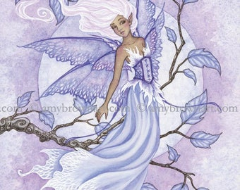 5x7 Lavender fairy PRINT by Amy Brown