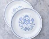 4 Vintage Figgjo Flint Norway Dinner Plates / Lotte Turi / 1970's Kitchenware