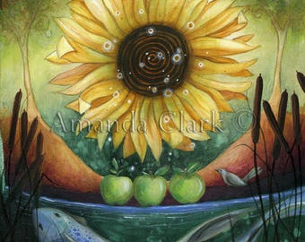 Autumn Equinox  Art print by Amanda Clark.