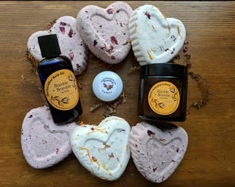 Pamper Me Gift Set | gift ideas for her him bath bomb valentines day bath oil lotion cream lip balm natural beauty