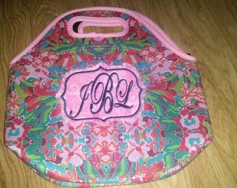 Lunch/ lunch tote/ lunch bag/ lunch tote bag/ lunch box/ neoprene lunch bag/ back to school/ teacher gifts/ lilly/ lilly inspired
