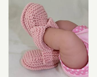 40% OFF SALE Instant Digital File PDF Download - Baby's First Booties Bootees  knitting pattern