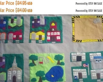 Flash Sale Car Playmat - toy cars - interactive toy - busy toy - educational  - quiet toy - felt board - learning toy - my neighborhood