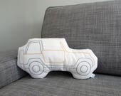 jeep shaped pillow, jeep cushion, RESERVED