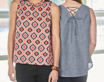 Indygo Junction Sewing Pattern Turn About Tank