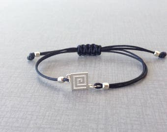 Greek key bracelet - 925 sterling silver - Greek jewelry - Fine jewelry - Women gift