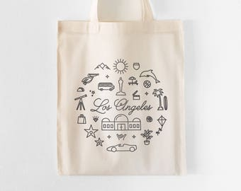 Los Angeles Tote Bag | Farmers Market Tote | Grocery Bag | Shopping Bag | Gift for Her