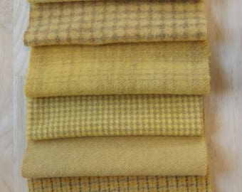 Buttercup - Yellow - Hand Dyed Felted Wool Fabrics Perfect for Rug Hooking, Applique, Quilting, and Sewing by Quilting Acres