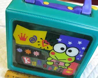 Keroppi Vintage On Sale Snap Closure Box With Handle Just About Square 1997 Sanrio Good Condition Read Details Please