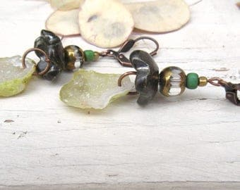"""Tabasco geodes for these urban and contemporary earrings: """"Echoes Of Dreams"""" ...."""