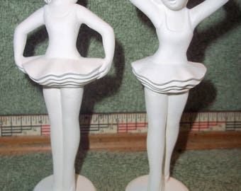 Little Girl Ballerina's Ballerina In Ceramic Bisque Ready For You To Paint Dancer Dancers