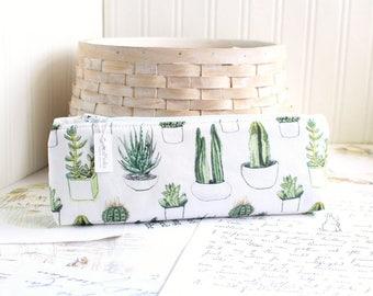 Pencil Case Cactus Pencil Pouch Succulents Zippy Pouch Students Back to School
