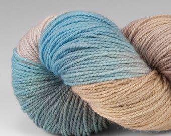 Handpainted Yarn, Fingering Weight, Superwash Merino & Nylon, Welcome, Rhyolite Robin's Egg, 100g