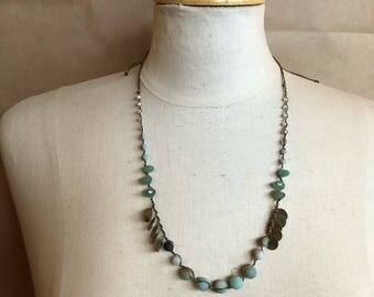 Handwoven beaded 'gratitude' necklace