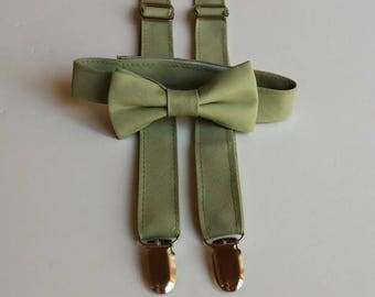 Sage Bowtie and Suspenders Set                 2 weeks before shipping