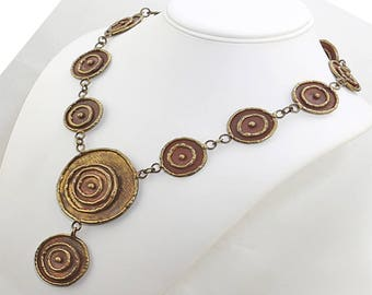Vintage Modernist Necklace - Luciano Mexico