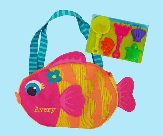 Child's Stephen Joseph FISH Beach Tote/Beach Bag