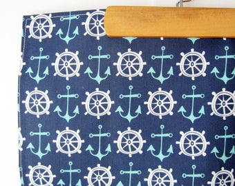 Nautical Tea Towel // Dish Towel // Beach Home // Navy Blue // Housewares // Summer // Ocean Theme // Coastal Decor // Sailing // Anchor