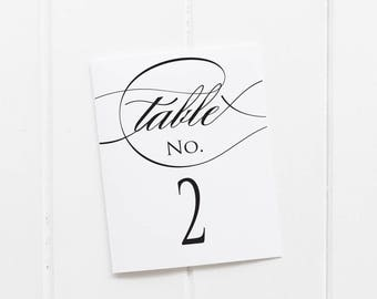 Printable Table Numbers - Easy Cutting Guide - Numbers 1-30 Included