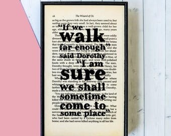 SUMMER SALE Wizard of Oz - Wizard of Oz Gift - Book Quote Print - Inspirational Quote - Birthday Gift - Framed Quote - Best Friend Gift - If
