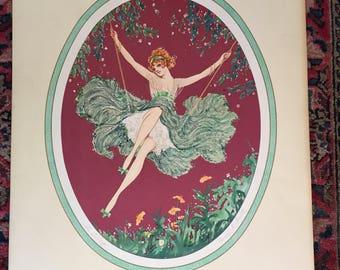 Marcel Le Boulte Art Deco print 'The Swing'