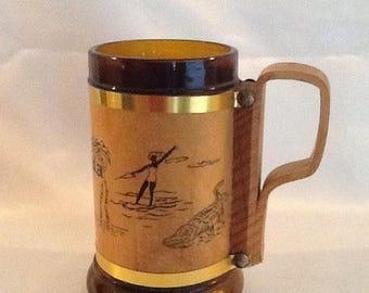 Sale Vintage Amber Florida Souvenir Mug