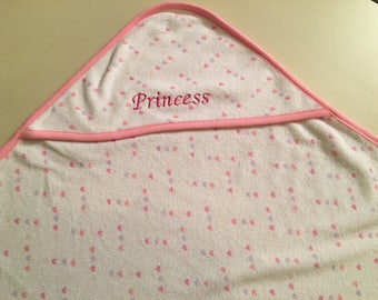 Embroidered Baby Bath Hooded Towel