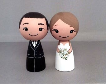 Wedding Cake Toppers Cute Couple